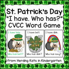 St. Patrick's Day I have...Who has...? Ending Blends Word Game