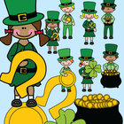 St Patricks Day Kids Clip Art Graphics