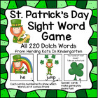St. Patrick's Day Leprechaun Sight Word Game (Dolch Word L