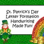 St. Patrick's Day Letter Formation Pack - Handwriting Made Fun!