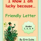 Letter Writing-I know I am lucky because...(Common Core)