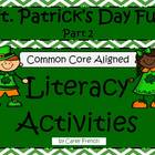 St. Patrick&#039;s Day Literacy Activities CCSS