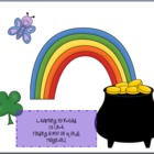 St. Patrick's Day Literacy Center~ sight word game