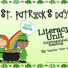 St. Patrick's Day Literacy Informational Reading CCSS