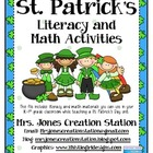 St. Patrick&#039;s Day Literacy &amp; Math Activities