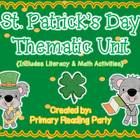 St. Patrick's Day Literacy & Math Unit