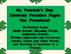 St. Patrick's Day Literacy Practice Pages for Preschool