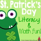 St. Patrick's Day Literacy and Math Fun!