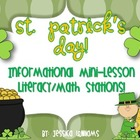 St. Patrick's Day Literacy and Math Mini-Pack