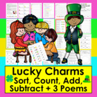 St. Patrick's Day Lucky Charms Math Center - All Primary Levels