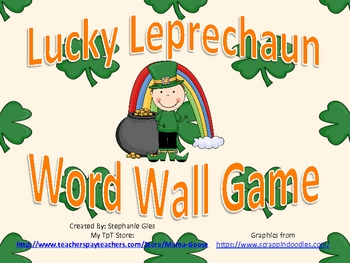 St. Patrick's Day Lucky Leprechaun Word Wall Activity