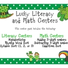 St. Patrick's Day Lucky Literacy and Math Centers
