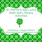 St. Patrick's Day Lucky Math and Literacy Activities - Fir