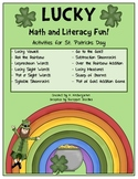 St. Patricks Day Lucky Math and Literacy Activities