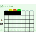 St. Patrick's Day / March Calendar Page for SmartBoard