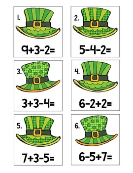 St Patricks Day - March - Math Centers