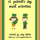 St. Patrick&#039;s Day Math Activities - Common Core Standards