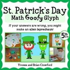 St. Patrick's Day Math Goofy Glyph (5th grade Common Core)