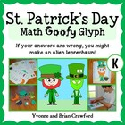 St. Patrick's Day Math Goofy Glyph (Kindergarten Common Core)