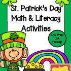 St. Patrick&#039;s Day Math &amp; Literacy Activities