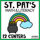 St. Patrick's Day Math & Literacy Work Stations {10 Centers!}
