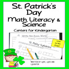 St. Patrick's Day: Math, Literacy and Science Centers for
