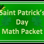St. Patrick's Day Math Packet and keys