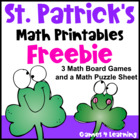 St Patrick's Day Math Printables
