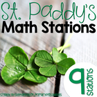 St. Patrick's Day Math Stations for March (Common Core Aligned)