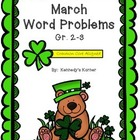 St. Patrick's Day Math Word Problem Pack FREEBIE!