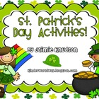 St. Patrick's Day Math and Literacy Activities and Leprech
