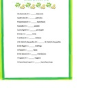 St. Patrick's Day Multiplication 1 to 12