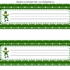 St. Patricks Day Nameplates from Schoolgirl Style