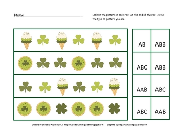 St. Patrick's Day Pattern Identification