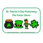 St. Patrick's Day Patterning File Folder Game