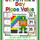 St. Patrick's Day Place Value 100 Chart Puzzle