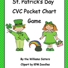 St. Patrick&#039;s Day Pocket Chart Game of CVC Words