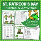 St. Patrick&#039;s Day Puzzle and Activity Fun for Early Finishers