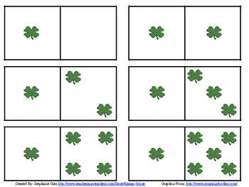 St. Patrick's Day Quick Images: Ten-Frame, Dice & Domino C