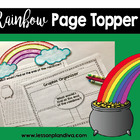 St. Patrick's Day Rainbow Page Topper Craft and Writing