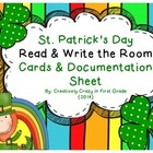 St. Patrick's Day Read and Write the Room Cards and Docume