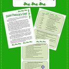St. Patrick's Day Reading  Comprehension Vocabulary Discussion