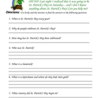 St. Patrick&#039;s Day Scavenger Hunt Questions