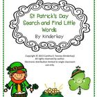 St. Patricks Day Search and Find Little Words