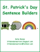 St. Patrick&#039;s Day Sentence Builders Literacy Center