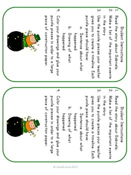 St. Patrick's Day Sequencing Activities
