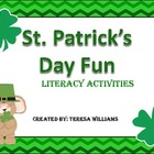 St. Patrick's Day Shamrock Fun Literacy Activities