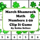 St. Patrick's Day Shamrock Math {Numbers 1-20 Clip It Game