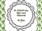 St. Patrick's Day Sight Word Flash Cards