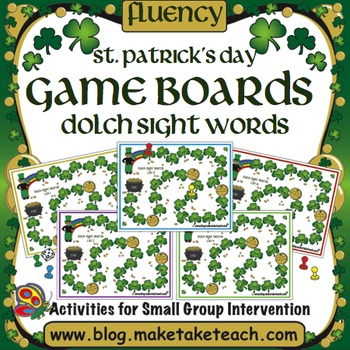 St. Patrick's Day Sight Word Game Boards